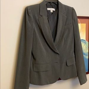 Grey women's blazer NY&C 2 button size 8 stretch